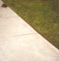 how to cut a straight lawn edge